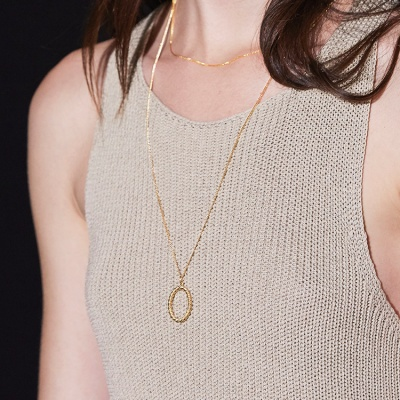 simple rope necklace-L