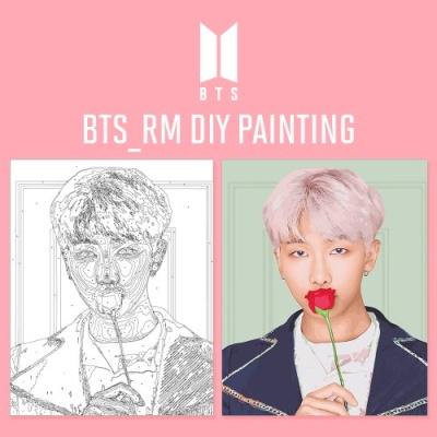 BTS RM DIY PAINTING 방탄소년단 랩몬스터 DIY 그리기 아이러브페인팅