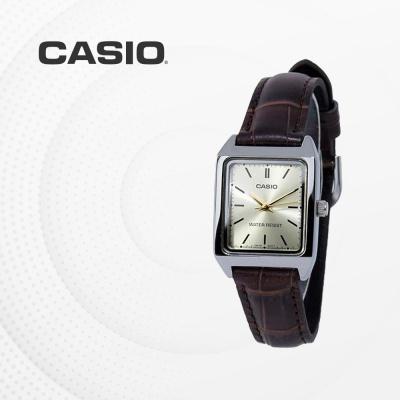 카시오 여성 가죽 빈티지 손목시계 LTP-V007L-9E