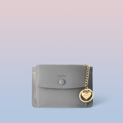 [이니셜 커스텀] Big pocket point wallet _ Gray