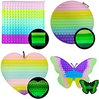 초초대형 40cm 야광 오로라 네모 하트 나비 원형 모양
