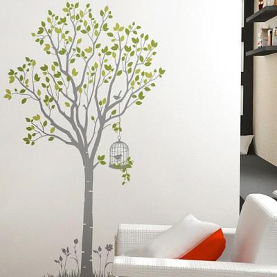 산책 (반제품A타입)그래픽스티커 나무 포인트 시트지