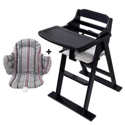 [무료배송][베이비캠프]월넛 유아용 식탁의자와 쿠션세트