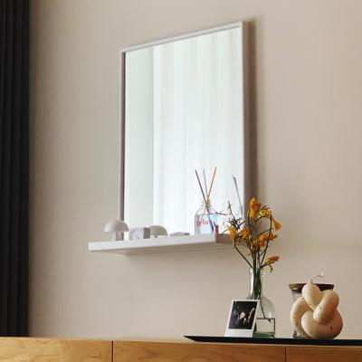히스토릭컬렉션 no_2901 선반사각거울 화이트 45x60cm