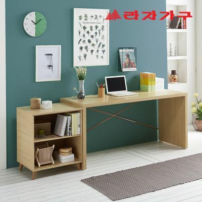 무노 일자형 책상+수납장 세트 1600 B형