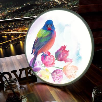nh159-LED액자45R_아름다운꽃과새그림