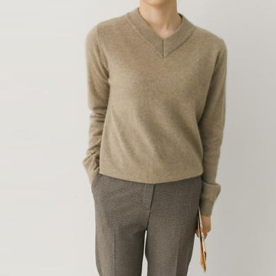Raccoon Wool V-Neck Sweater