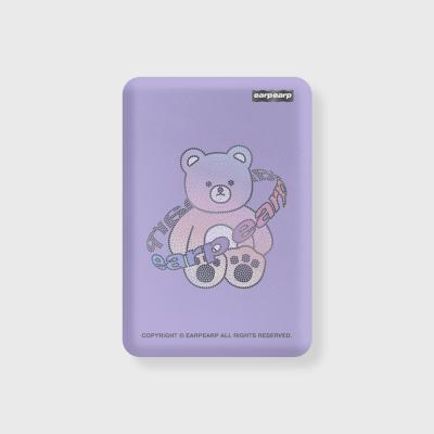 Twinkle gem bear-purple(무선충전보조배터리)