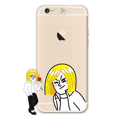 [SG DESIGN]iPhone6/ iPhone6 Plus 라인프렌즈 제임스 LIGHT UP Case-Gold(하드타입/라이팅)