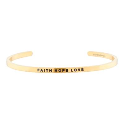 [만트라뱅글] FAITH HOPE LOVE - 골드
