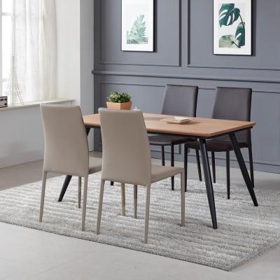 토바 무늬목 식탁 세트A 1400 + 의자 4개포함