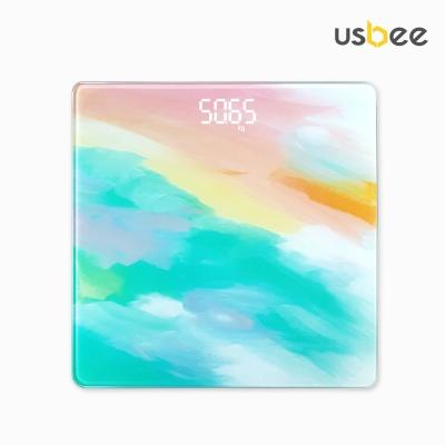 [USBEE] 유즈비 페인팅 LED 체중계 온도측정가능