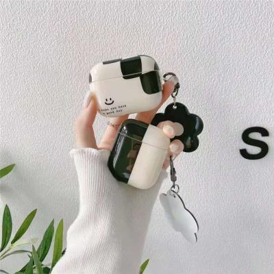 에어팟 1 2 프로 플라워 키링 스마일 실리콘 케이스