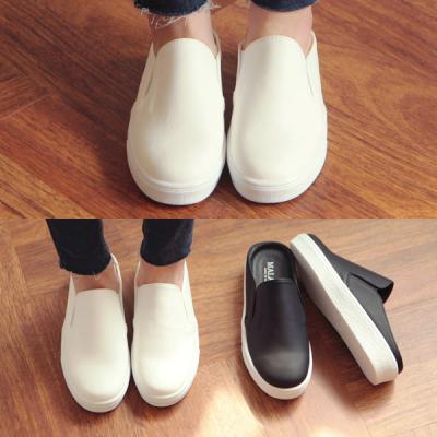 [애슬릿]발 편한 여성 통굽 슬립온 뮬 블로퍼 5.5cm