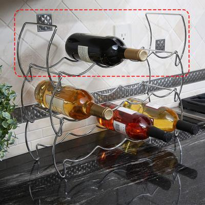 크롬 와이어 와인랙 스탠드 와인 거치대 적층식 1p