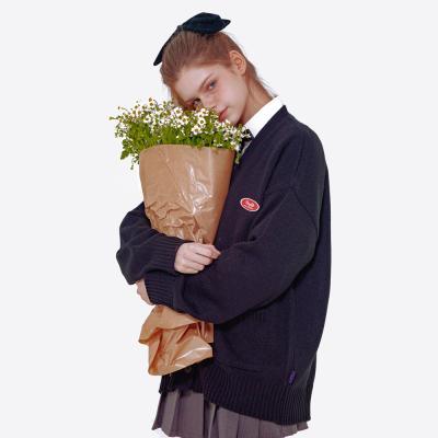 데이라이프 스몰 로고 니트 가디건 (블랙)