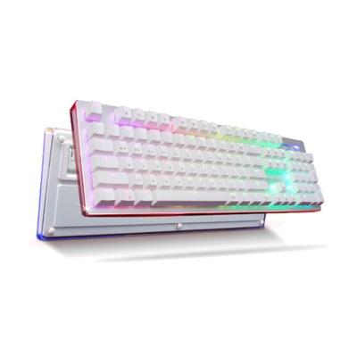 한성컴퓨터 GTune 크리스탈클리어 하우징 기계식키보드 XK1 BOSSMONSTER KLv.77 (RGB백라이트 / 멀티미디어 키 / 청축,적축,갈축)