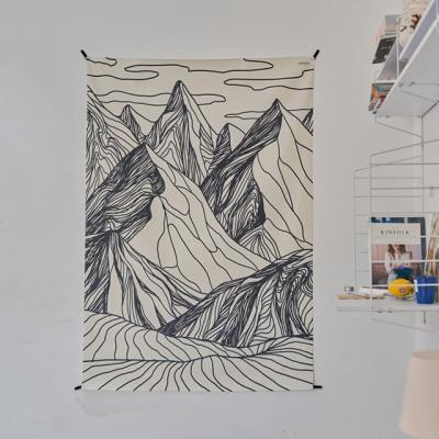 산 일러스트 패브릭 포스터 / 가리개 커튼