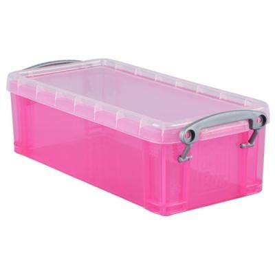 [Really Useful] 클리어박스0.9리터 (Litre) 투명핑크 [개/1] 302737