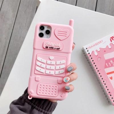 아이폰12 11 PRO MAX SE2 8 핑크 전화기 실리콘케이스