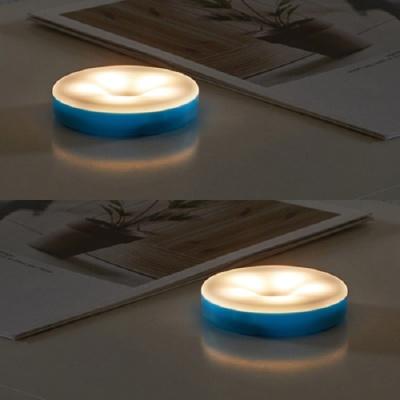 아이린 충전식 터치 무드등 블루,웜화이트 불빛,2P