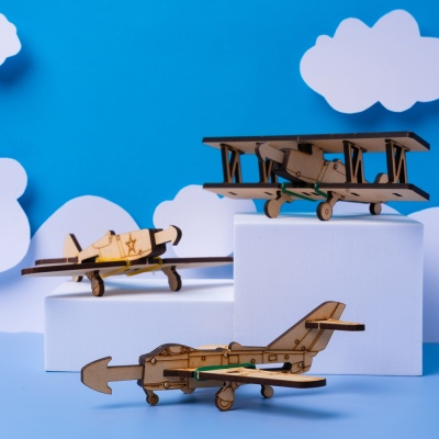 [고무줄 비행기총 만들기] 집콕놀이 만들기 장난감