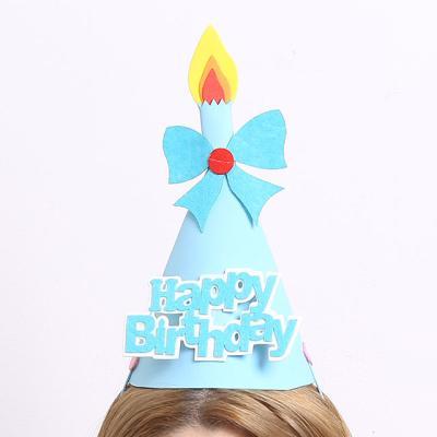 EVA 촛불하나 생일 고깔모자 (블루)