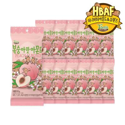 [길림양행] 복숭아맛 아몬드 30g_12봉