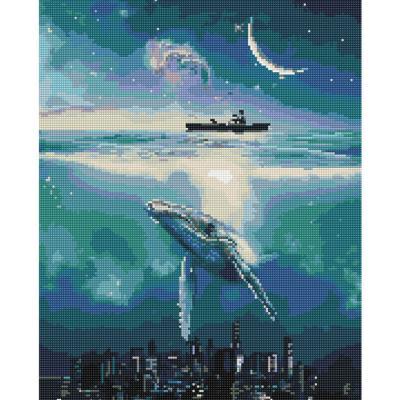 고래와 바다 (캔버스형) 보석십자수 40x50