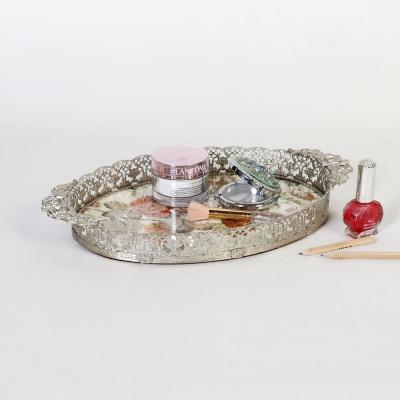 엔틱메탈 빈티지 장미 메이크업 트레이 미디움-4색상