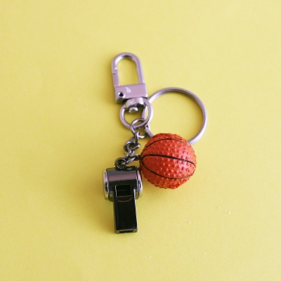 농구공 에어팟 케이스 키링