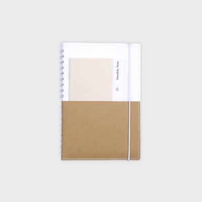 Half Diary S - White / Yellow ocher