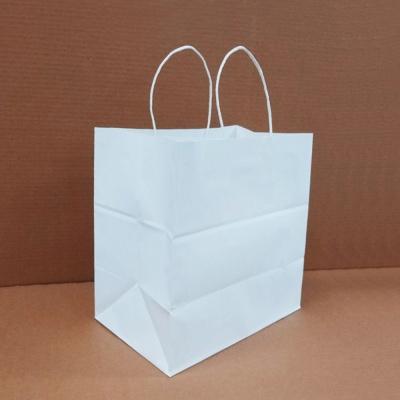 도시락 백색 무지크라프트 트위스트 종이쇼핑백 100매