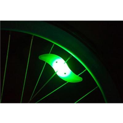 실리콘 자전거 휠라이트(그린) LED 안전등