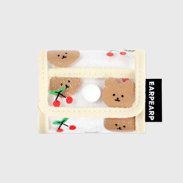 Dot cherry bear-ivory(PVC Air pods pro)