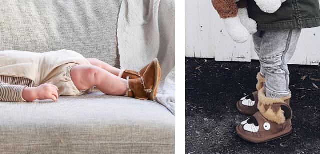 유아와 처음 걷기 시작한 아이들의 발을 따뜻하게!