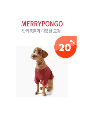 merrypongo 반려동물과 따뜻한 교감 20%
