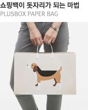 쇼핑백이 돗자리가 되는 마법 PLUSBOX PAPER BAG