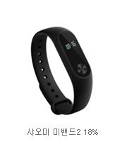 샤오미 미밴드2 18%
