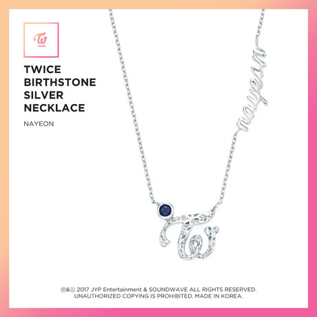 NAYEON(나연) - BIRTHSTONE SILVER NECKLACE: JEWELRY COLLECTION [한정판]