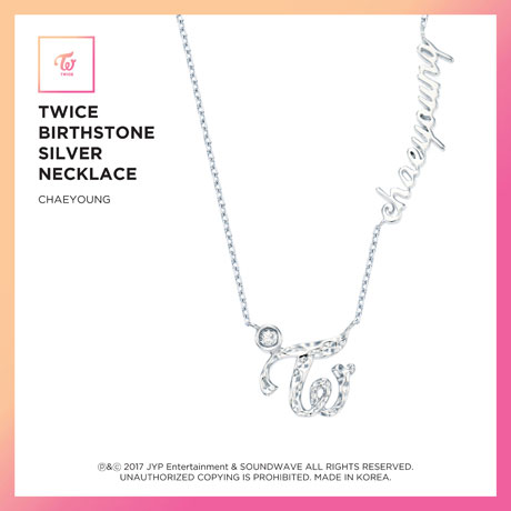 CHAEYOUNG(채영) - BIRTHSTONE SILVER NECKLACE: JEWELRY COLLECTION [한정판]