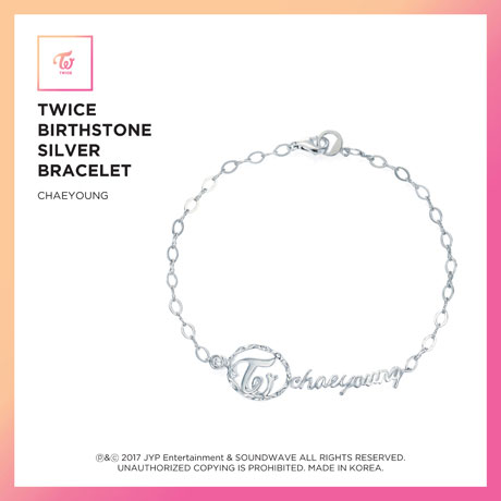 CHAEYOUNG(채영) - BIRTHSTONE SILVER BRACELET: JEWELRY COLLECTION [한정판]