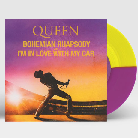 "BOHEMIAN RHAPSODY B/W I`M IN LOVE WITH MY CAR [2019 RSD] [LIMITED] [7"" SINGLE PURPLE & YELLOW COLOURED] [LP]"