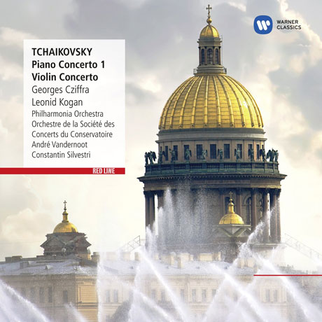 PIANO CONCERTO 1/ GEORGES CZIFFRA, CONSTANTIN SILVESTRI [RED LINE] [차이코프스키: 피아노 & 바이올린 협주곡]