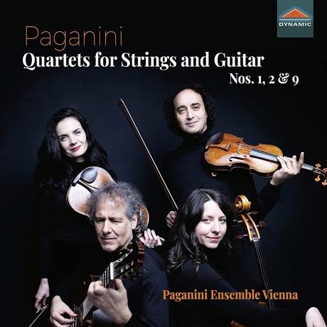 QUARTETS FOR STRINGS & GUITAR NOS.1, 2 & 9/ PAGANINI ENSEMBLE VIENNA [파가니니: 현과 기타를 위한 사중주 1, 2, 9번 - 파가니니 앙상블 비엔나]