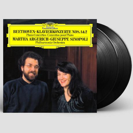 PIANO CONCERTOS 1 & 2/ MARTHA ARGERICH, GIUSEPPE SINOPLI [베토벤: 피아노 협주곡 1, 2번 - 아르헤리치, 시노폴리] [180G LP]