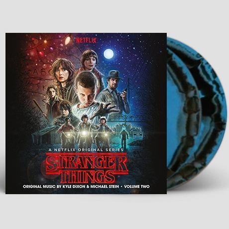 STRANGER THINGS SEASON 1 - VOLUME 2 [BLUE & BLACK SWIRL] [LP] [기묘한 이야기 시즌 1-2]