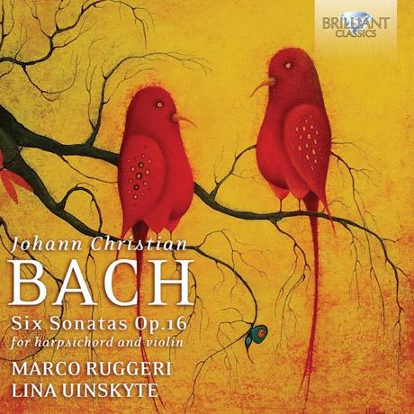 SIX SONATAS FOR HARPSICHORD AND VIOLIN/ MARCO RUGGERI, LINA UINSKYTE [J.C 바흐: 하프시코드와 바이올린을 위한 6개의 소나타]