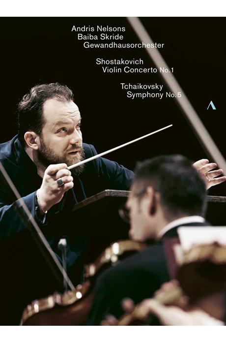 VIOLIN CONCERTO NO.1 & SYMPHONY NO.5/ BAIBA SKRIDE, ANDRIS NELSONS [쇼스타코비치: 바이올린 협주곡 1번 & 차이콥스키: 교향곡 5번 - 안드리스 넬손스]