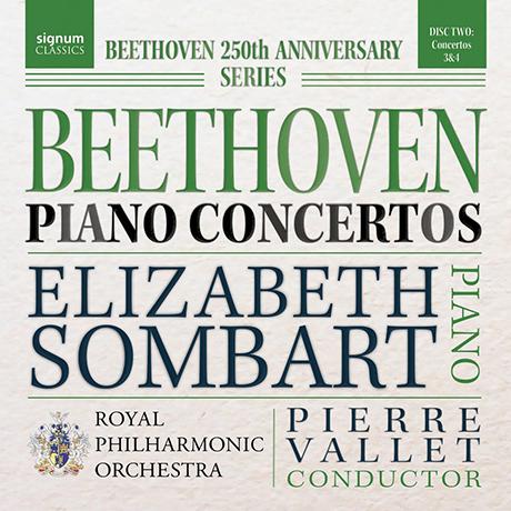 PIANO CONCERTOS/ ELIZABETH SOMBART, PIERRE VALLET [베토벤: 피아노 협주곡 3, 4번 - 엘리자베스 솜바르트, 발레]